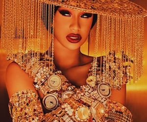 famous, make up, and gold image