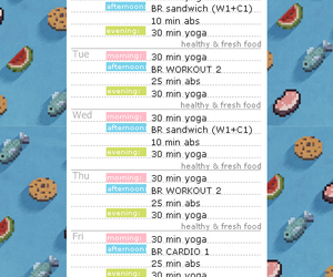 abs, cardio, and food image