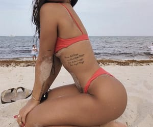 beach, summer, and Tattoos image