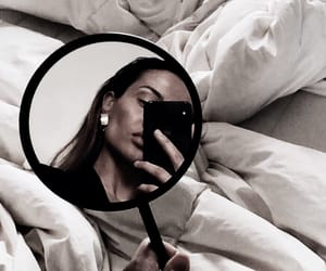 bedding, mirror, and selfies image