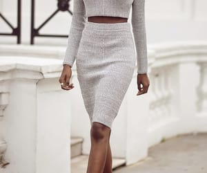 knit, off, and outfit image