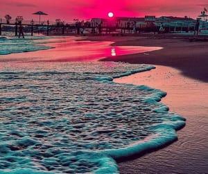 beach, sunset, and beautiful image