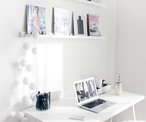 decor, office, and desk image