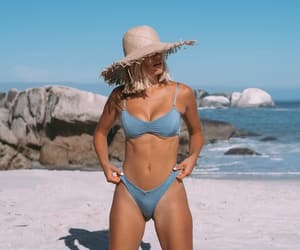 accesories, beachwear, and hat image