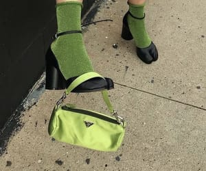 green, fashion, and Prada image