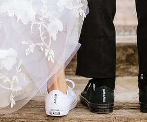 wedding, bride, and shoes image