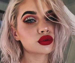 red lips and makeup goals image