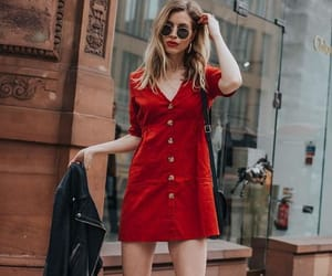 fashion, red, and red dress image