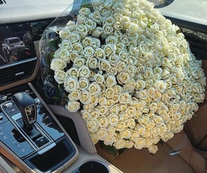 roses, car, and classy image