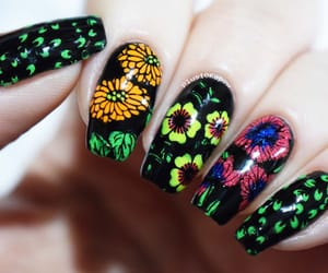 barry m, floral, and nails image