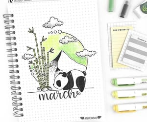 march and bulletjournal image
