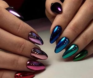 nails, blue, and colours image