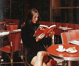fashion, book, and cafe image