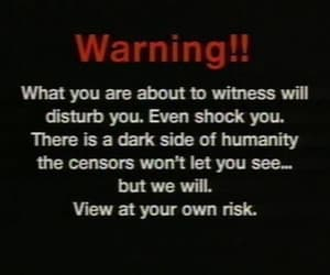 dark, aesthetic, and warning image