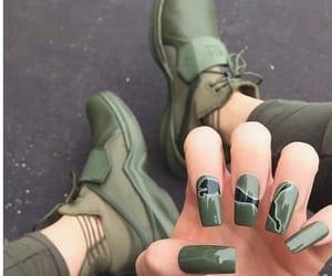 nails, green, and puma image