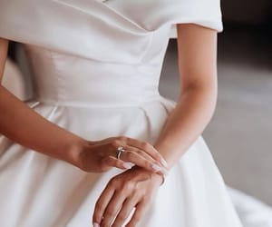 wedding, dress, and white image