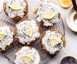 food, muffins, and sweets image