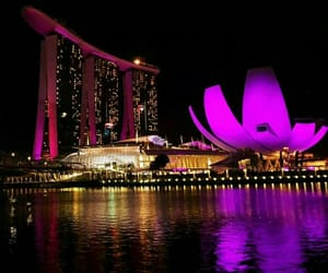 night and singapore image