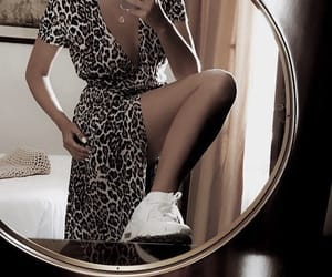 animal print, dress, and fashion image