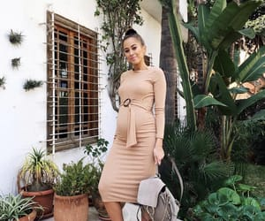 dress, pregnant, and fashion image