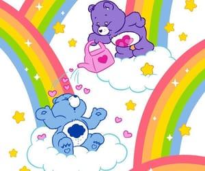 care bears and rainbow image