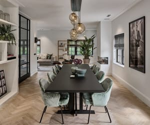 art, design, and dining room image