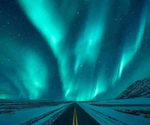 aurora borealis, europe, and magic image