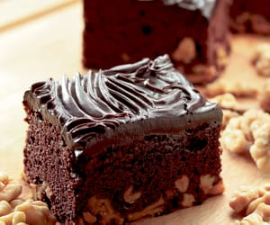 brownie, sweets, and cake image