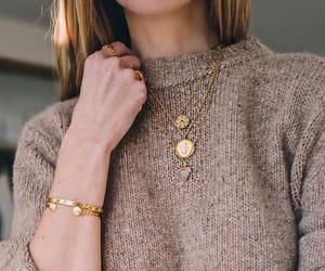 fashion, gold, and jewelry image