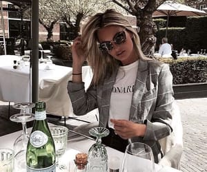blonde, traveling, and dinner image