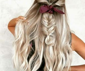 hair, bow, and girly image