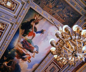 art, ceiling, and chandelier image