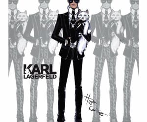 karl lagerfeld and hayden williams image