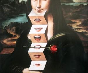 monalisa, mona lisa, and smile image