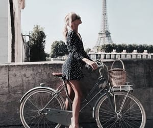 girl, bike, and france image