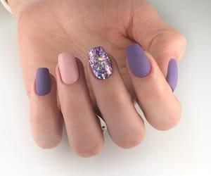 glitter, mate, and nail image
