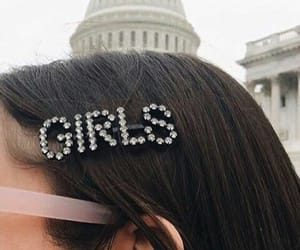 girl, hair, and accessories image