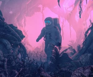 astronaut, colours, and space image
