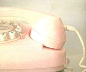 phone, pink, and vintage image