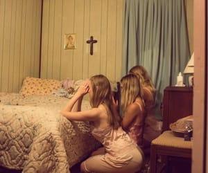 girl, pray, and vintage image