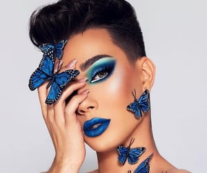 makeup, butterfly, and fashion image