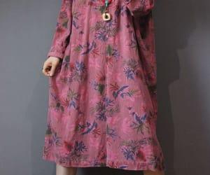 dresses, vintage dress, and v collar dress image