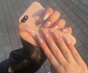 nails, iphone, and girly image