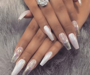 nails, girly, and diamond image