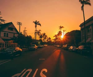 sunset, sun, and wallpaper image