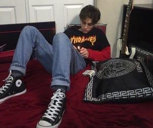 boy, grunge, and converse image
