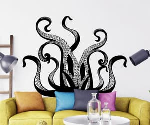 etsy, octopus decal, and sea animal decal image