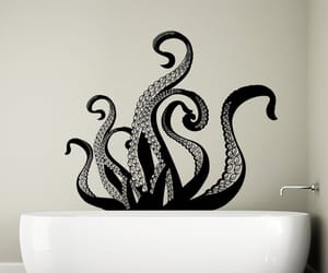 etsy, wall decal, and octopus decal image