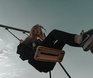 girl, grunge, and swing image