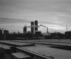 black and white, city, and urban image